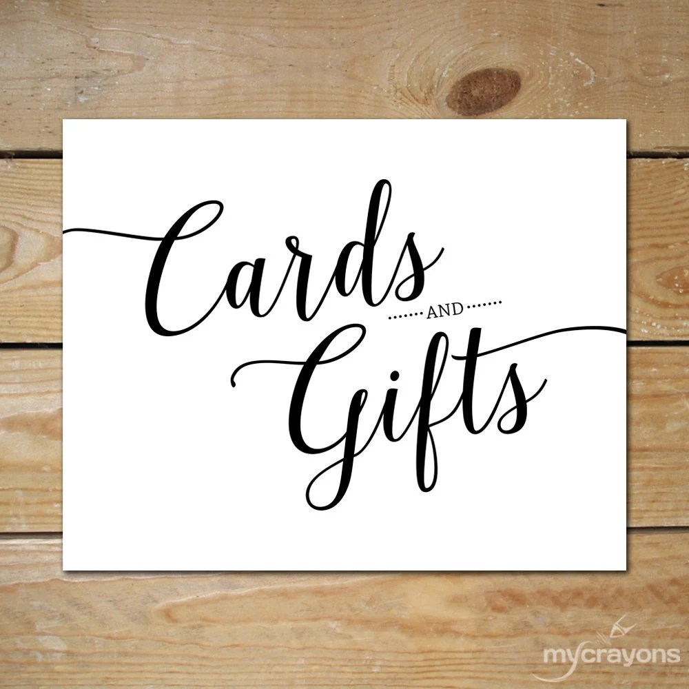 Cards and Gifts Wedding Sign Printable  Cards and Gifts