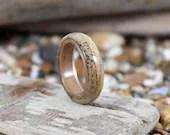 Deer Antler Ring with Oak...