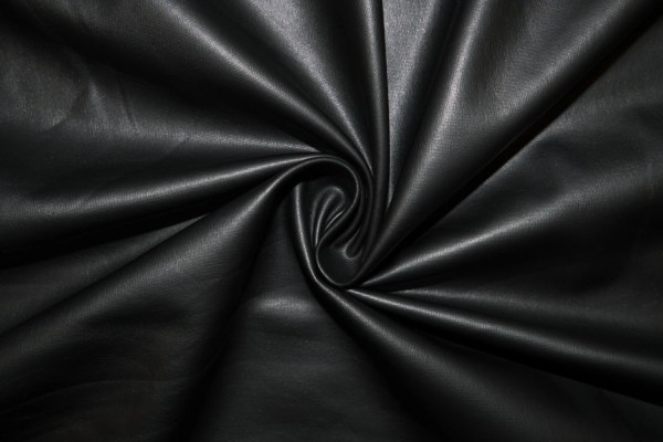 Black Matte Pleather Faux Leather Stretch Vinyl Polyester