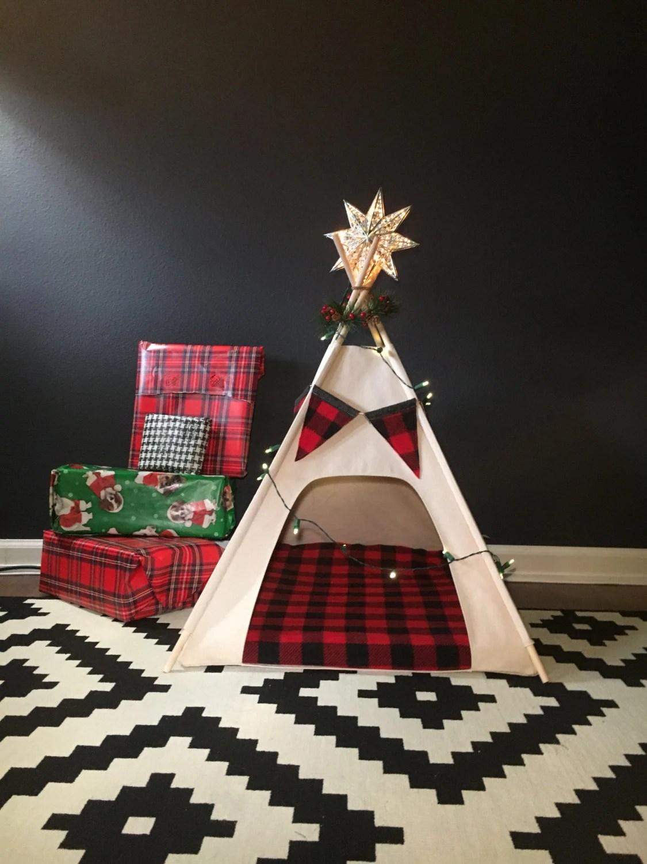 DogCat Teepee Pet Tent Small 24 Base Natural Canvas