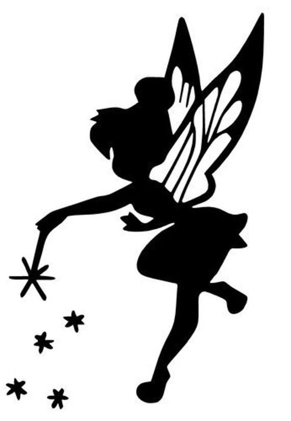 SVG disney fée clochette silhouette de fée clochette peter