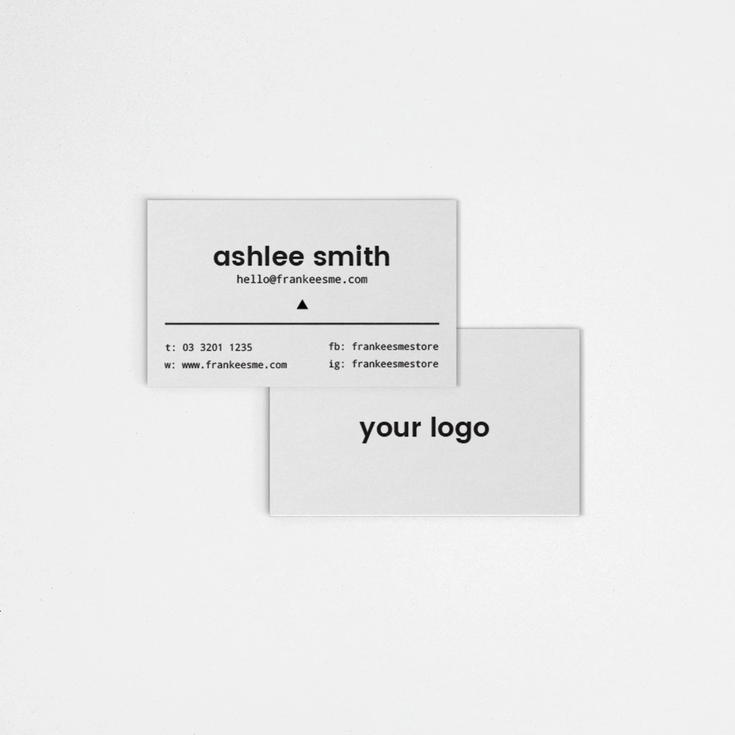 Business Cards // Add your own logo // by StoriesDesignStudio
