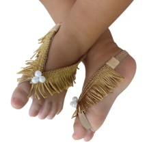 Gold Barefoot Sandals for Babies