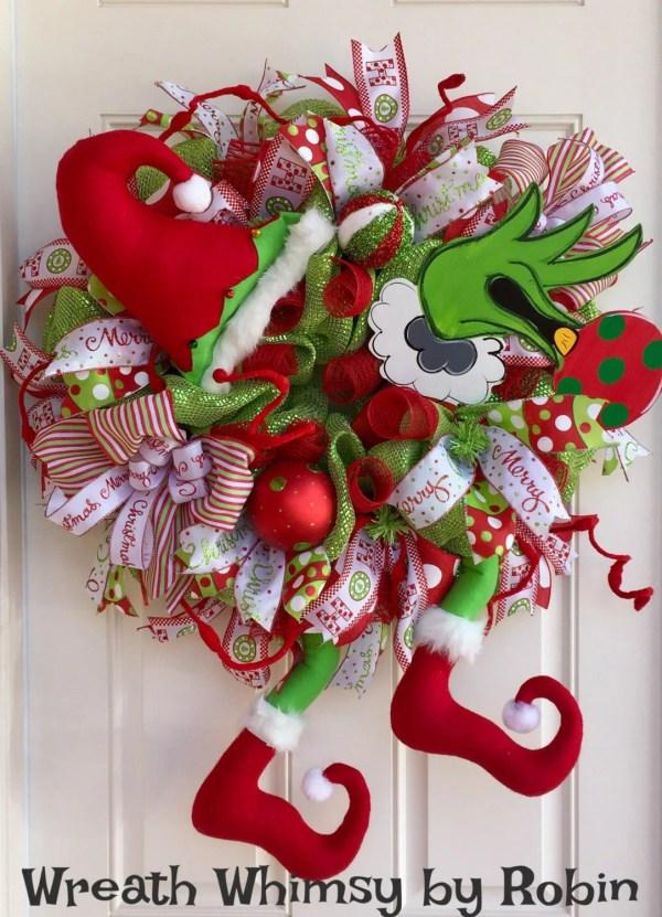 Grinch Christmas Wreath Ideas