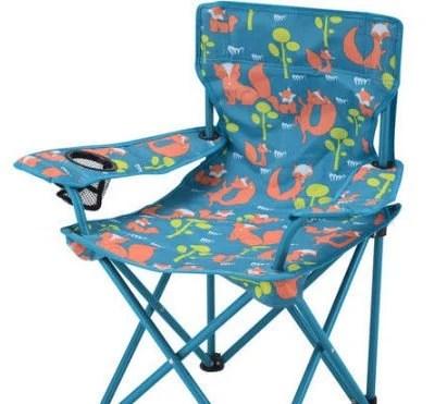 Personalized Toddler Boy FoldingCamping Chair Blue Fox