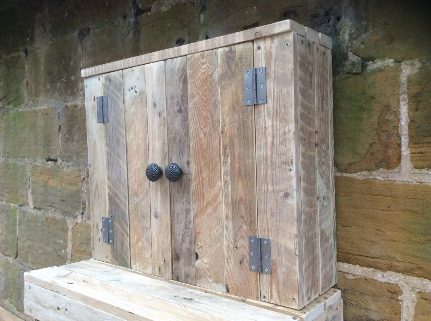 Rustic Bathroom Wall Cabinets Rustic Wall Mounted Bathroom Cabinet Made From Reclaimed