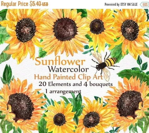 unique sunflower clipart related
