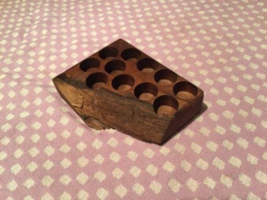 Stained Walnut Oil Holder