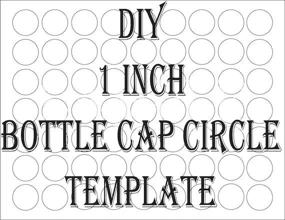SVG Blank Bottle Cap Circle Template Printable ~ 4 File