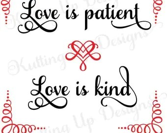 Download Love is patient svg | Etsy
