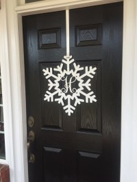 Snowflake Monogram Door Wreath, Snowflake door decorations,
