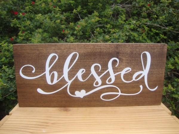 Blessed Sign Wood Signs Wall Collage Rustic