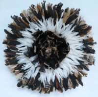 Authentic juju hat Wall decor feather headdress.