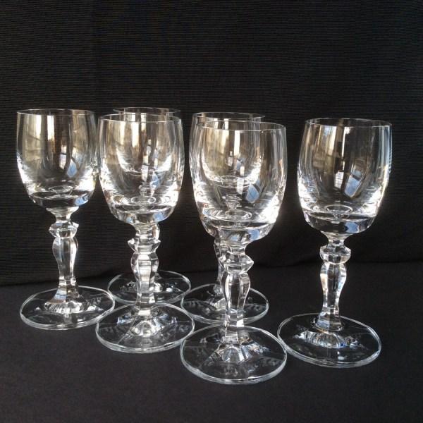 Vintage Crystal Cordial Glasses Set Of 6