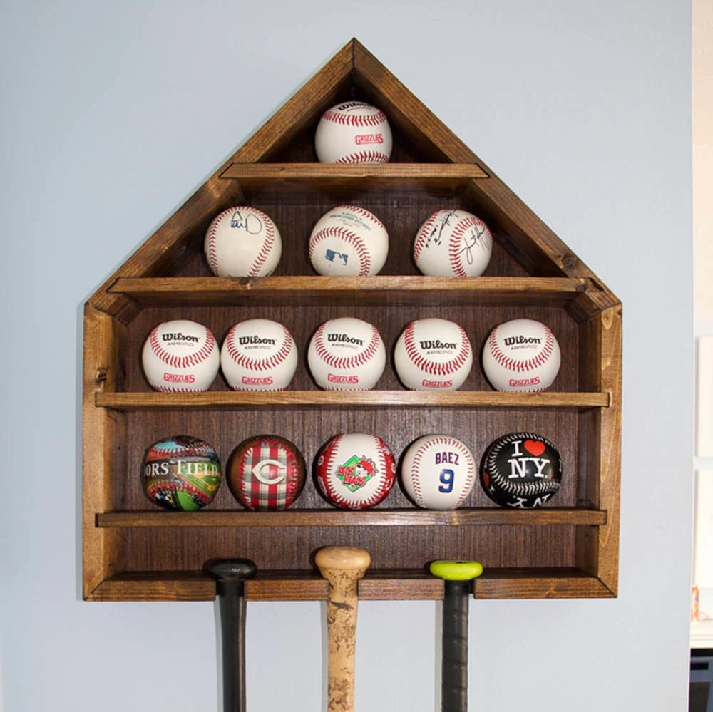 Baseball Display Baseball Holder Baseball Case Home Plate