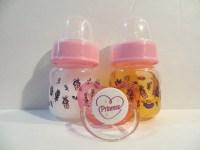 Reborn Preemie Doll Bottles 2oz Pink Fake Milk & Juice
