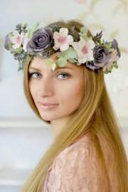 boho flower crown bridal floral