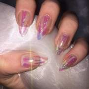 clear holographic glitter shattered