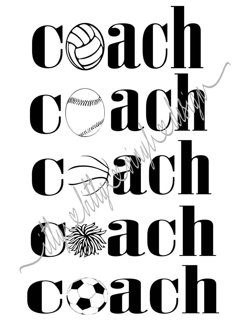 Coach Instant Download svg/dxf/png/pdf files from