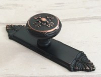 Dresser Knobs Drawer Pulls Handles Black Red Oil Backplate ...