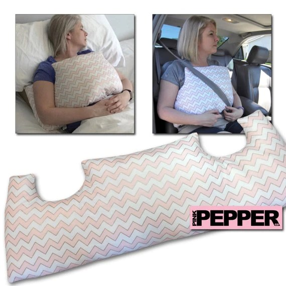 HANDMADE MASTECTOMY PILLOW Breast Cancer Pillow Post Op