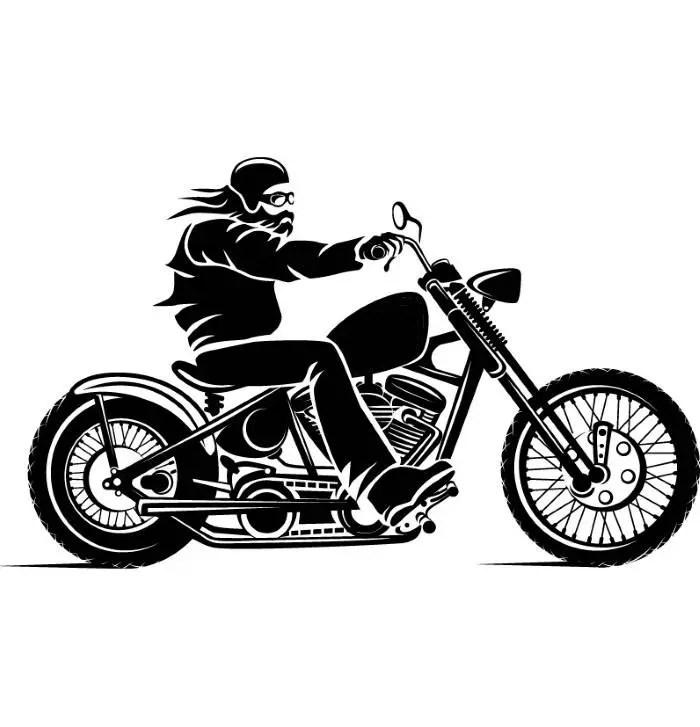 Motorcycle #3 Chopper Outlaw Bike Biker Repair Shop Logo