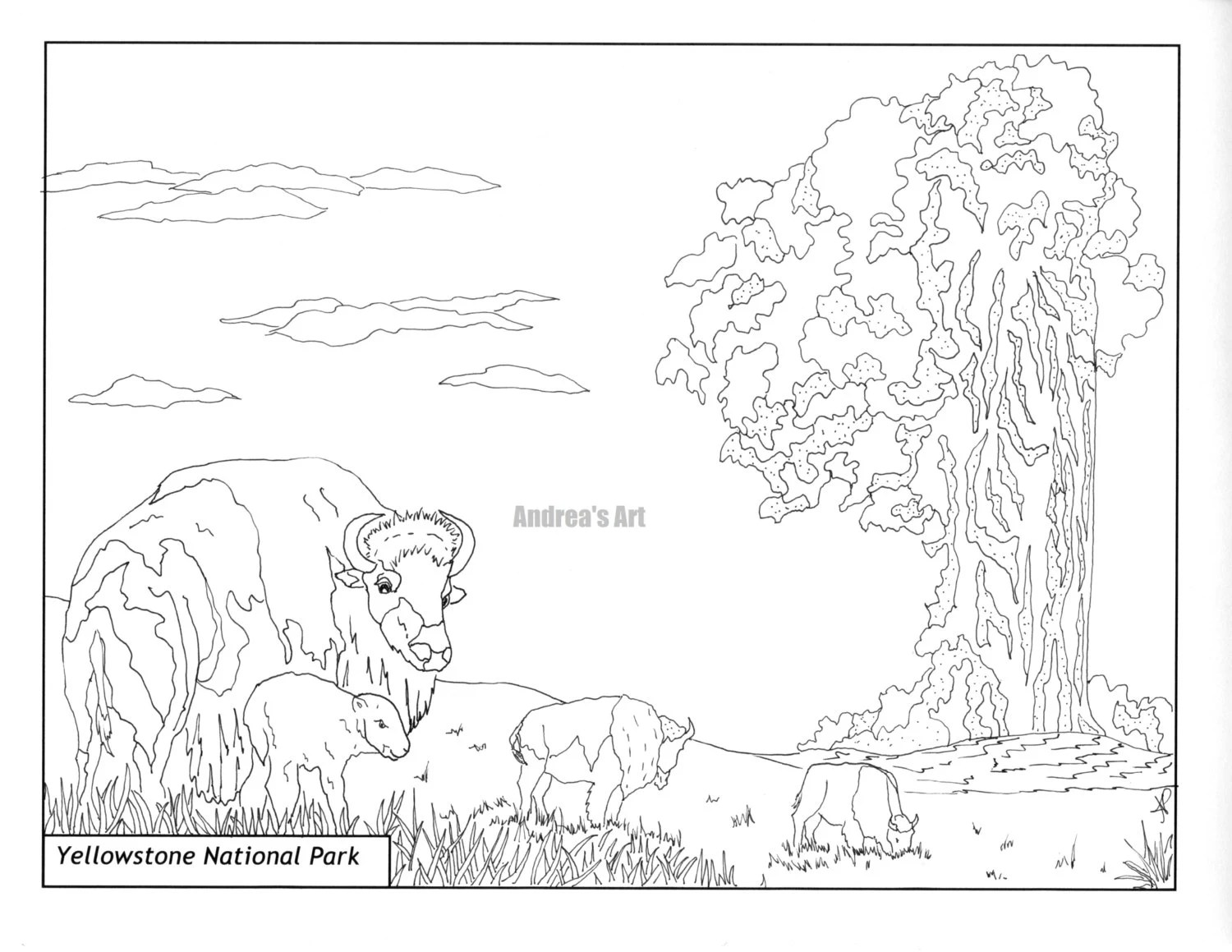 Death Valley National Park coloring page animals nature