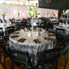 Red Chair Covers For Cheap Zero Gravity Camp Silver Sequin Tablecloth Round Wedding Sparkle