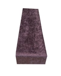Luxury Crushed velvet Table runners Bed throws PURPLE
