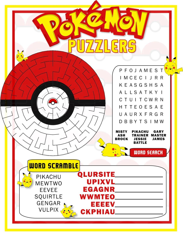 Pokemon Game Pokemon Birthday Party Favor Pokemon Instant