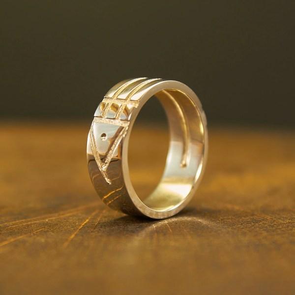 Sterling Silver Atlantis Ring Bague
