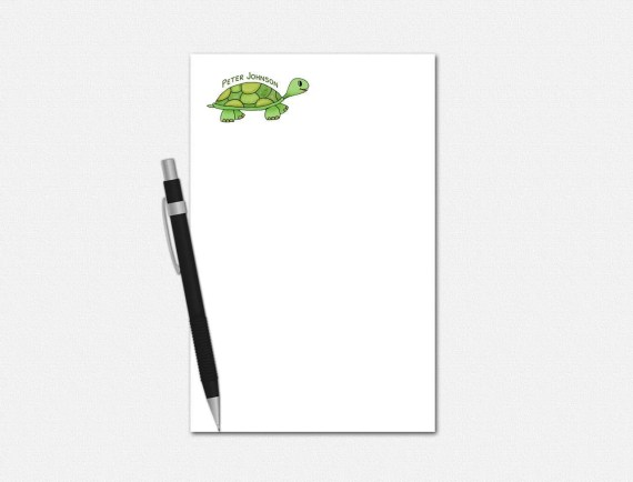 Personalized Turtle Notepad