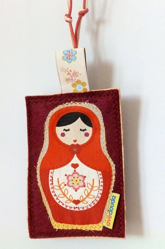 Travel tag with Matrioska, luggage label to customise your belongs