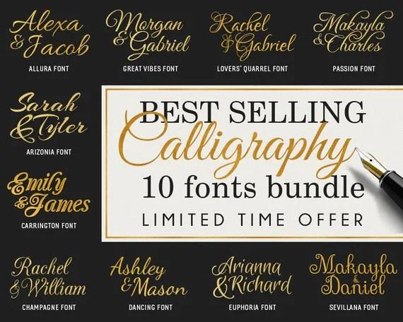 Download CURSIVE FONTS svg Pack Scripts bundle svg of 10 Calligraphy