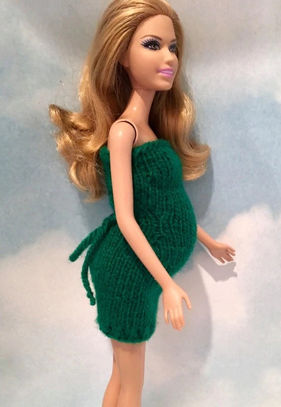 Pregnant Belly For Barbie With Newborn Baby Doll In Blanket