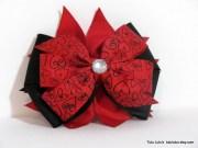 valentine's day hair bow valentine