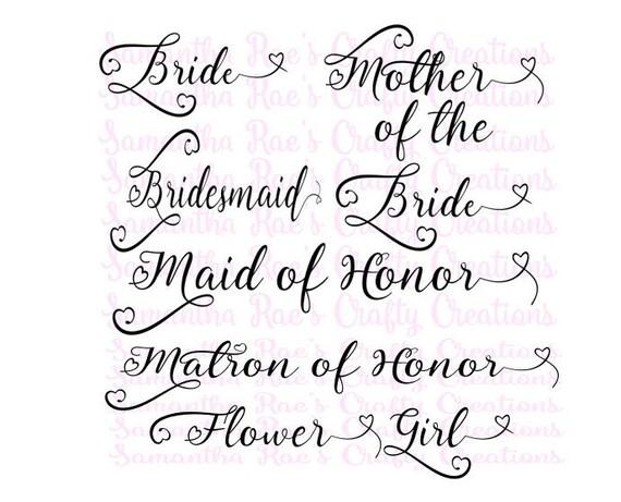 SVG PNG DFX Wedding File Bundle Bride Mother of the Bride