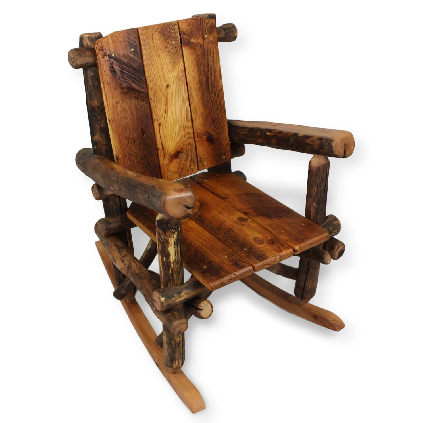 Rustic Wood Chairs Rustic Rocking Chair Reclaimed Wood Chair Porch Furniture