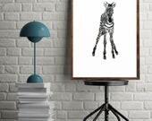 Zebra Painting Art Print ...
