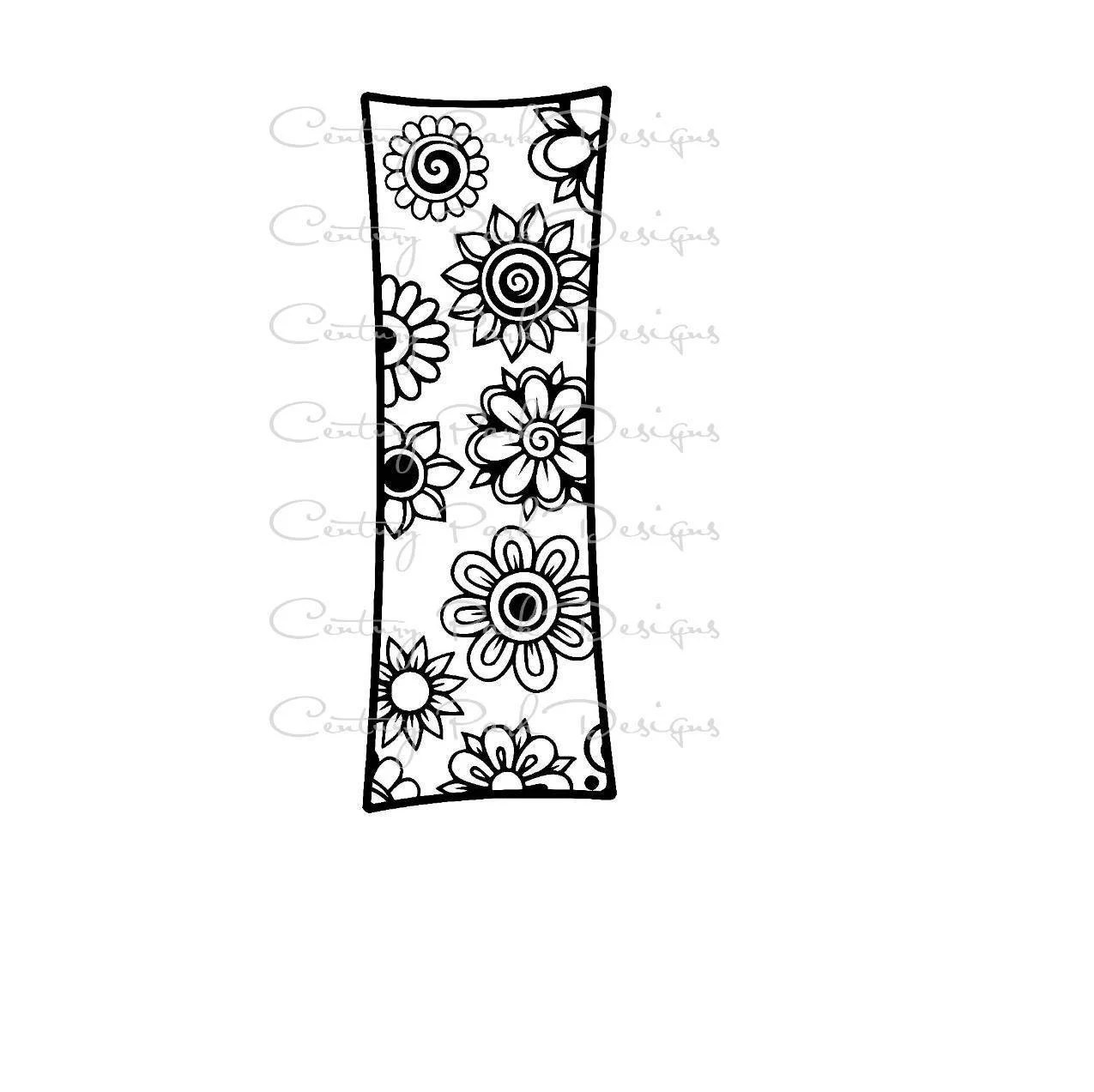 Letter I Alphabet Flowers SVG / JPEG / PNG /pdf / use with