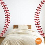 realistic baseball stitches laces
