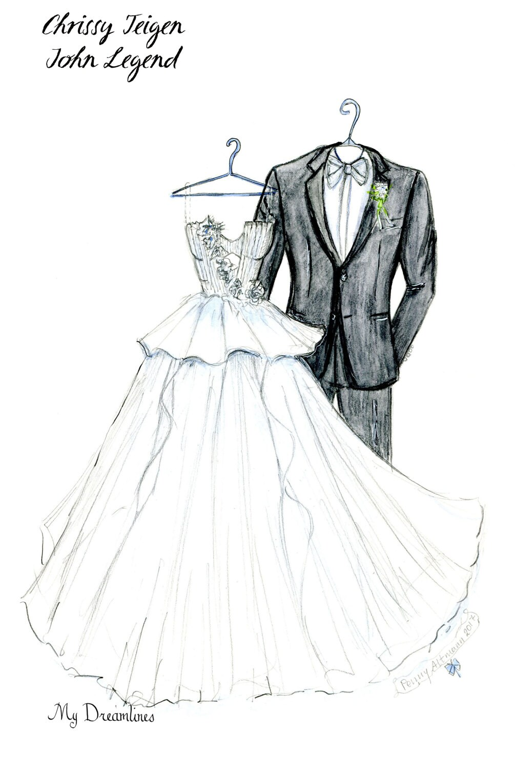 Wedding Dress Sketch bride gift ideas bride gift from maid