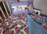 Toddler Bed CASE IH Baby Crib Bedding Set Rag Quilt Sheet and