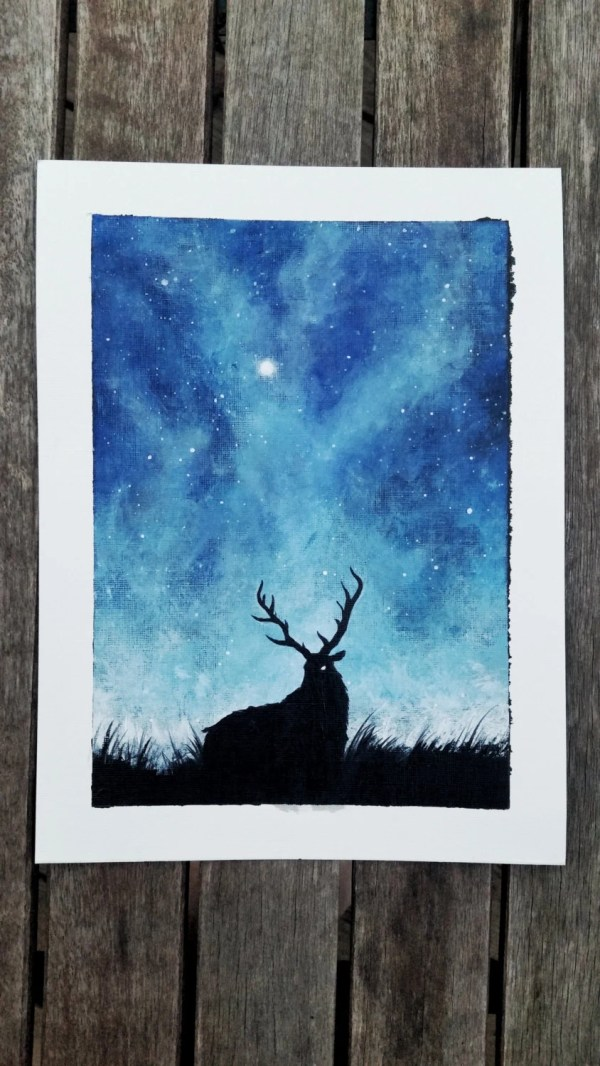 Deer Canvas Paintings Easy