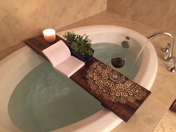 Bath Caddy Mandala CUSTOMIZE BATH Caddy Bath Tub Tray