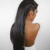 Beaded hair rings braid accessories hair hoop rings for