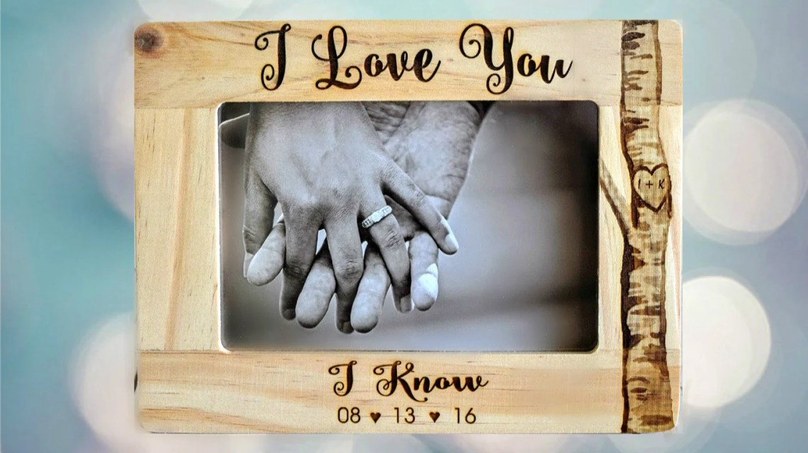 Download Star Wars I Love You/I Know Picture Frame by CustomWoodWonders