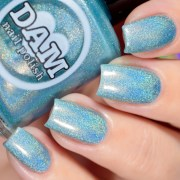 holographic nail polish - blue
