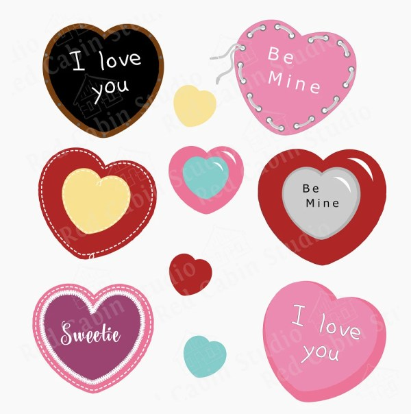 Valentine Hearts SVG Valentine Digital Download