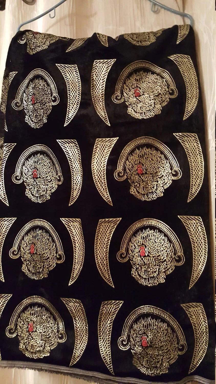 Isi Agu Cultural African FabricIsi Agu Velvet Fabric